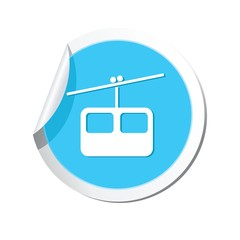 Chair lift icon. Vector illustration