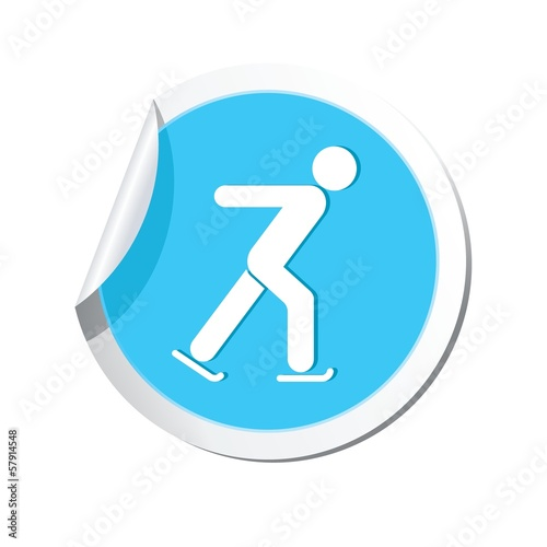 Ice skater symbol. Vector illustration