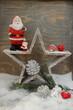 Stern und Weihnachtsmann