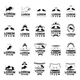 Bull Icons Set - Isolated On White Background - Vector
