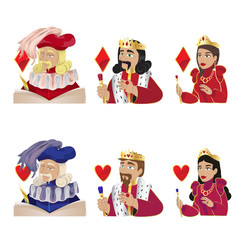Jack, King And Queen, Playing Cards  - Isolated On White