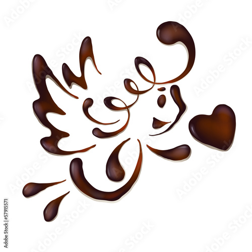 cute chocolate cupid