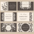 Set of six floral business cards