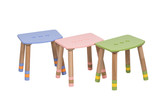 Pink, Blue , Green Wooden High Chair for children under 12 years
