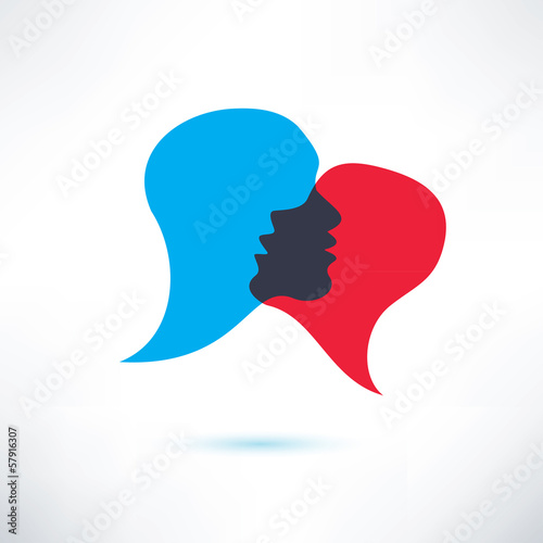 speech bubble, abstract shape icon