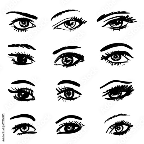 hand drawn eyes collection