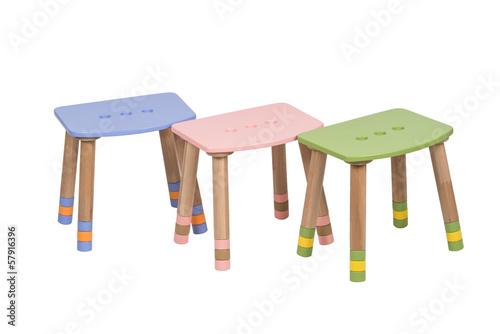 Pink, Blue , Green Wooden High Chair for children under 12 years - 57916396
