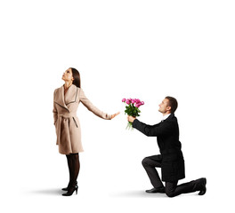 woman rejecting man