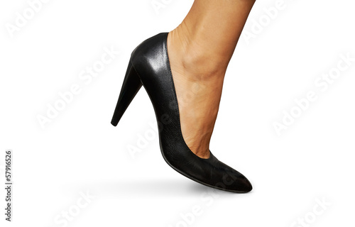 female leg and high heel shoe