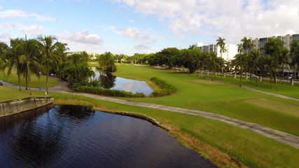 Aerial golf course footage