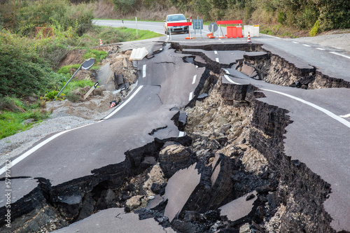 Staande foto Openbaar geb. Catastrofe stradale