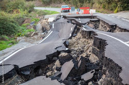 Leinwandbild Motiv Catastrofe stradale