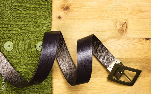 Belt and sweater