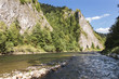 Sights of Poland - beautiful mountain river Dunajec.
