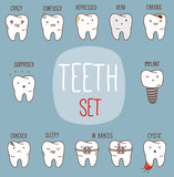 Dental collection with different teeth characters
