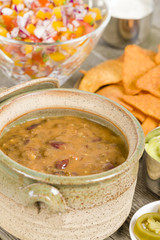 Vegetarian Chili - Chili made with soy protein and beans.