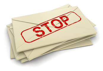 Stop letters  (clipping path included)