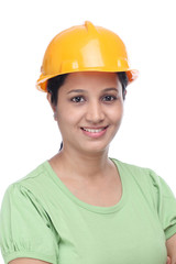 Confident young construction engineer