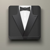 Premium Icon tuxedo and bow-tie.