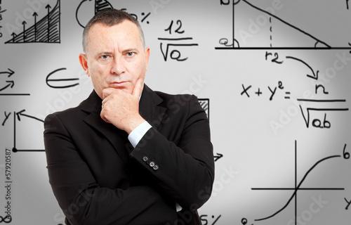 People writing formulas