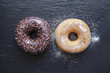 Donuts sur Ardoise Noire