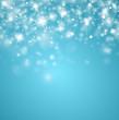 Blauer Glitzerhimmel