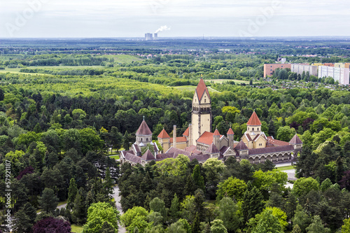 canvas print picture The crematorium of Leipzig, Germany