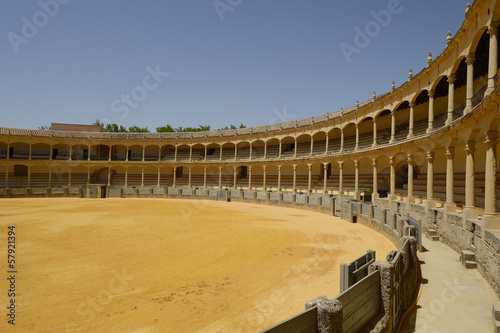canvas print picture Stierkampfarena in Ronda, Andalusien