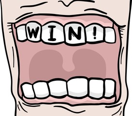 Win mouth