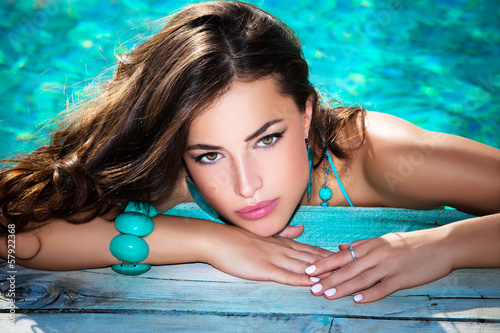 summer beauty portrait
