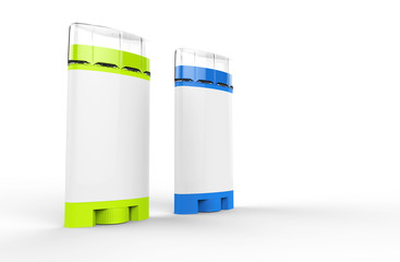 Green And Blue Deodorant Sticks