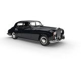 Black Vintage Car On White Background