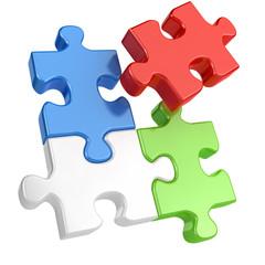 Teamwork concept - Puzzle
