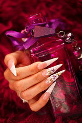 Nails and elixir bottle