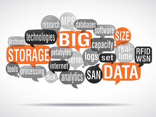 word cloud bubbles : big data