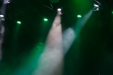 green spotlights