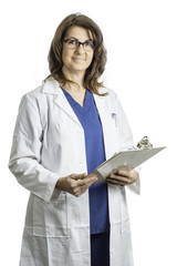 Female Doctor Wearing a Lab Coat