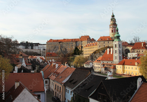 Beautiful view of Cesky Krumlov, Czech Republic