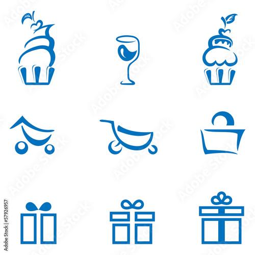 Essen, einkaufen, schenken