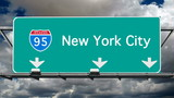 New York City - Interstate 95 Sign Time lapse