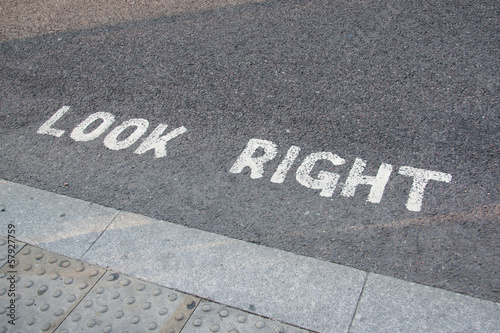 Look right, London