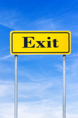 Exit street sign