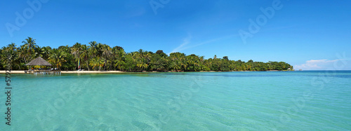 Tropical island panoramic