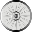 bike wheel black silhouette