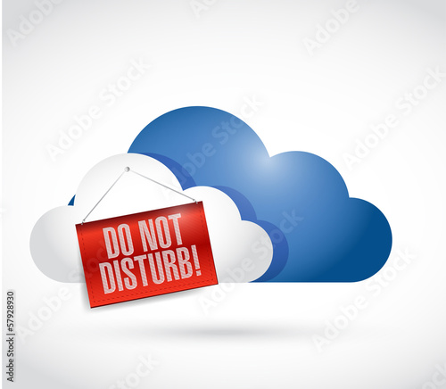 storage cloud with a do not disturb hanging sign