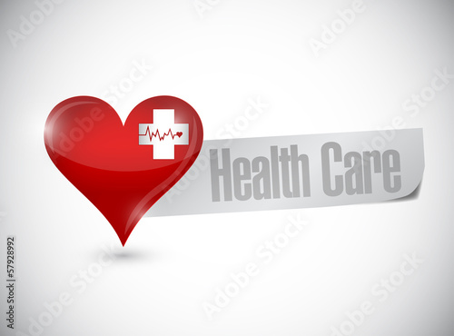health care heart and lifeline illustration design