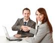Business handshake , isolated on white background