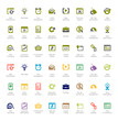 SEO and Development icon set4, dark green and colorful series