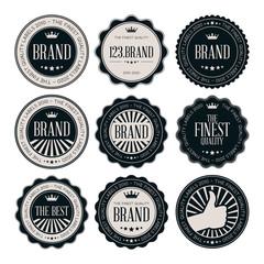 Black vintage labels
