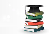 Books with graduation cap